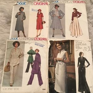Vintage Vogue Sewing Patterns Used Lot of 4 #2